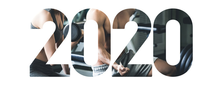 Fitness Sport New year 2020 concept