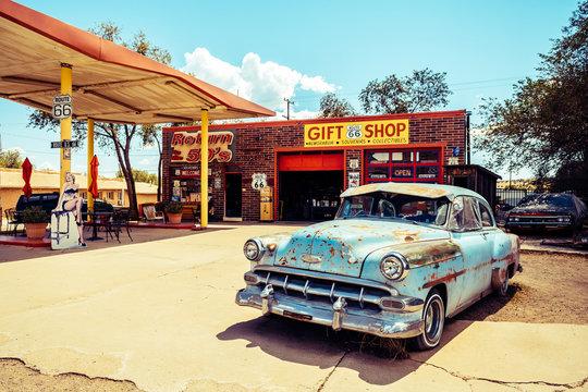 SELIGMAN. ARIZONA. 28th August, 2017: famous seligman town of route 66, arizona