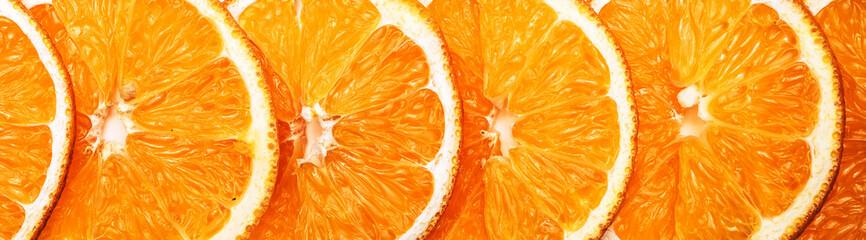 Slices of oranges - delicious edible background border