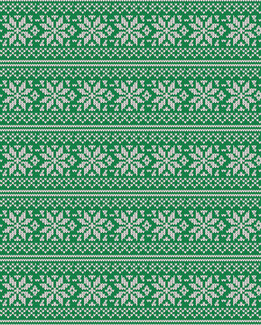 eps Vector image:Snow Crystal Knit pattern