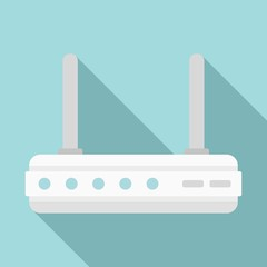 Gateway router icon. Flat illustration of gateway router vector icon for web design