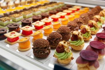 Various sweet items in window display