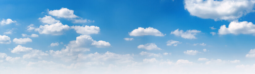 Poster Printemps panorama blue sky and white cloud