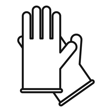 Medical gloves icon. Outline medical gloves vector icon for web design isolated on white background
