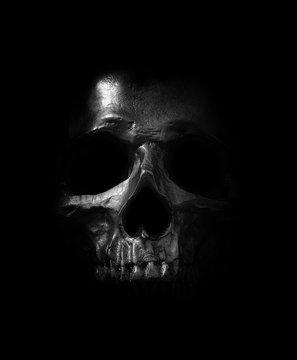 black skull.