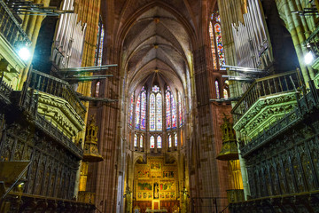 interior of st vitus cathedral Fotomurales