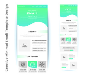 Creative Minimal Email Template Design