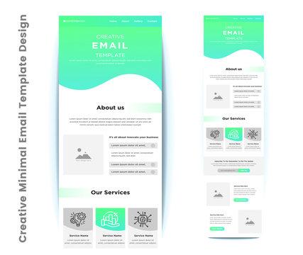 Creative Minimal Email Template Design
