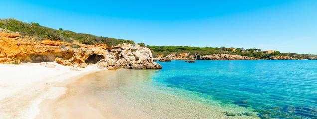 Foto auf Leinwand Blau Blue sea and white sand in Alghero shore