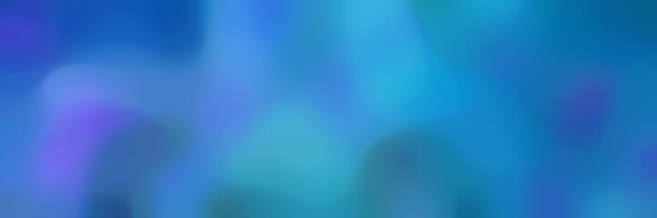 blurred horizontal background graphic with steel blue, strong blue and light sea green colors and free text space