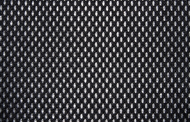 The texture of the black mesh.Black mesh background on white background.