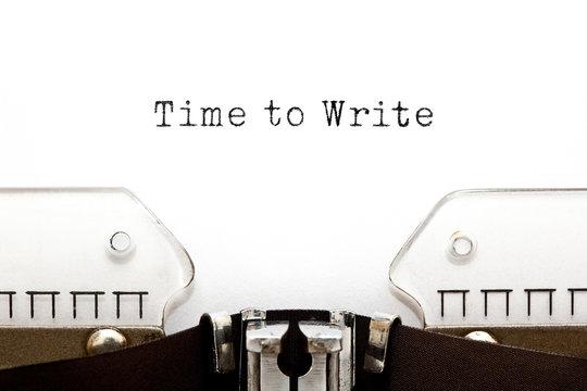 Time To Write Typewriter Concept