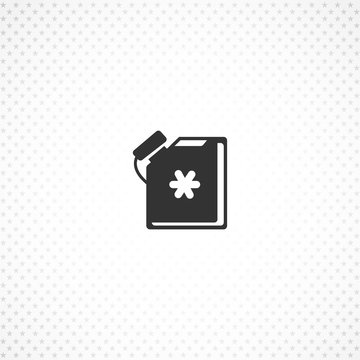 antifreeze jerrycan vector icon for mobile concept and web apps design
