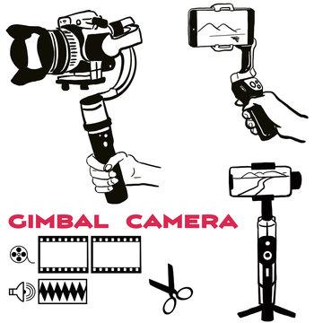 Vログ,自撮り,ジンバル,撮影,機材,編集,アイコン,カメラ