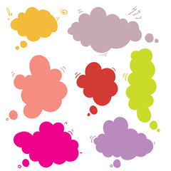 Think bubble isolated icon.hand drawn doodle style Vector illustration