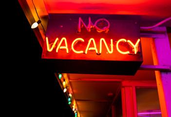 Neon Red Vacancy Sign