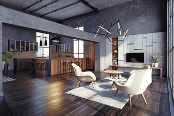 Fototapeta modern living interior obraz