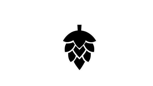 hop Simple black symbol on white background
