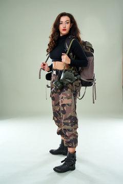 Beautiful military girl