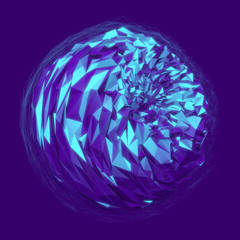 3D Polygonal Sphere Abstract Background