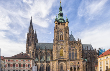 Wall Mural - St. Vitus Cathedral in Prague, Czech Republic