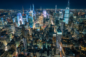 Spoed Foto op Canvas New York New York night skyline