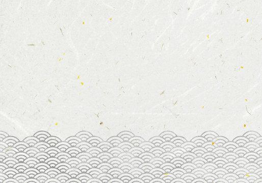 背景:青海波 波 海 伝統 模様 和風 和柄 図案 壁紙 素材 テクスチャー 灰 グレー ねずみ