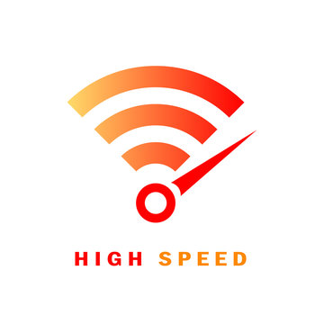 High speed internet vector logo