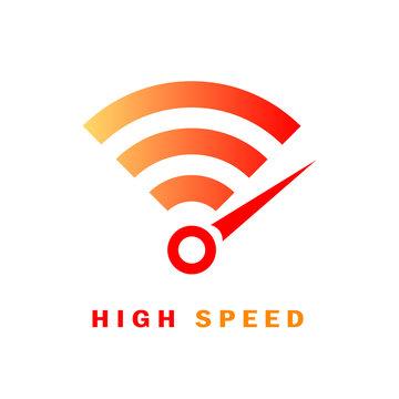 High speed internet vector logo
