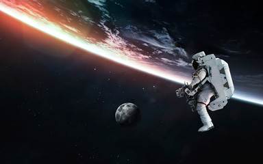 Wall Murals Nasa Astronaut at the Earth planet orbit. Elements of this image furnished by NASA