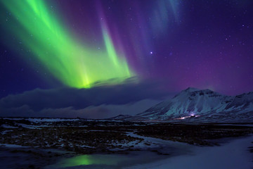 Papiers peints Aurore polaire Iceland. Northern lights