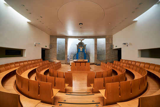 Jerusalem Israel. The synagogue inside Yad Vashem. Memorial to the victims of the holocaust
