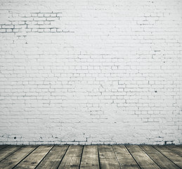 White blank brick wall