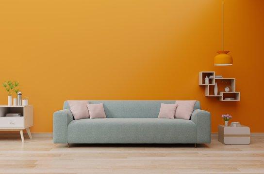 Wall lush lava with sofa living room.