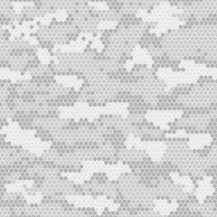 Digital camouflage seamless pattern. Vector abstract military camo background.