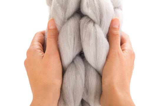 Chunky merino wool scarfs.