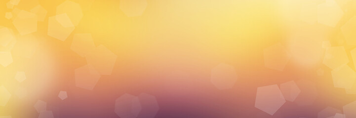 Foto auf AluDibond Orange Panoramic abstract bokeh lights background