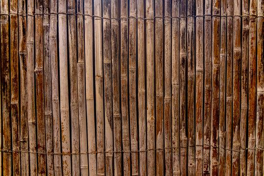 Close up of a bamboo screen