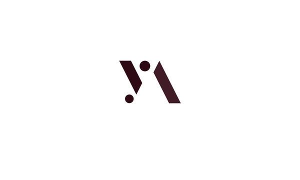 YA abstract vector logo monogram template