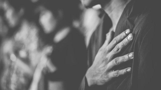 People praying together at Church.