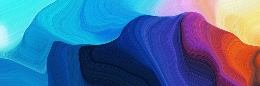 horizontal colorful abstract wave background with dark salmon, burly wood and strong blue colors. can be used as texture, background or wallpaper