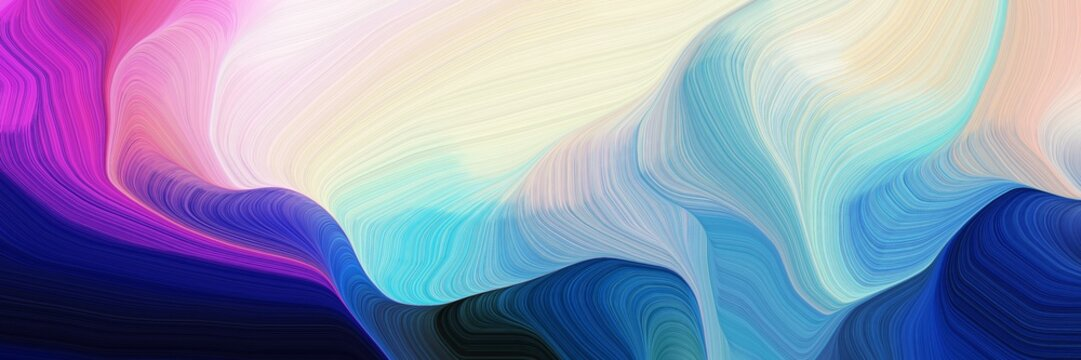 horizontal colorful abstract wave background with midnight blue, light gray and moderate violet colors. can be used as texture, background or wallpaper