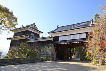 秋の上田城 Fototapete