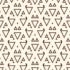 Fotobehang Boho Stijl Ethnic, tribal seamless surface pattern. Native americans style background. Repeated geometric figures motif. Contemporary abstract wallpaper. Boho chic digital paper, textile print. Vector art