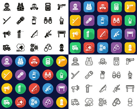 SWAT Team Icons All In One Set Big