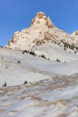 Fototapete - mountain landscape in winter