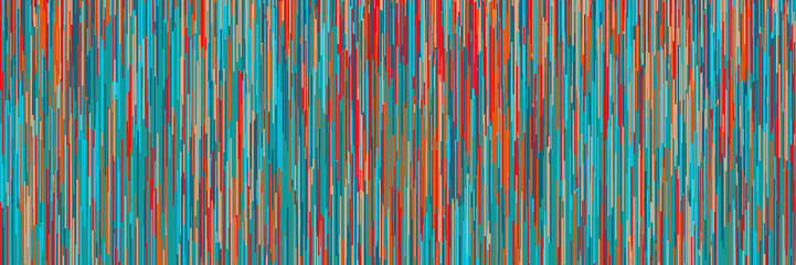 Colorful abstract background with vertical lines 3D illustration Wall mural