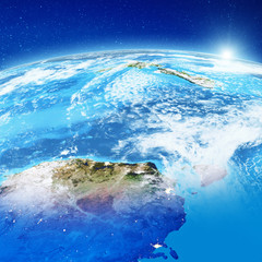 Wall Mural - Australia and New Zealand from space