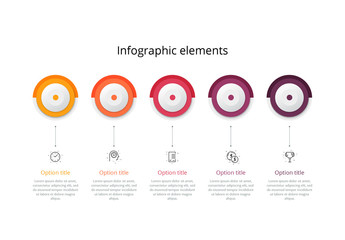 5 Step Infographic Layout with Circular Elements