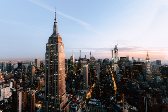 Empire States and skyscrapers in New York City, United States